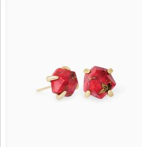 Kendra Scott red magnesite stud earrings